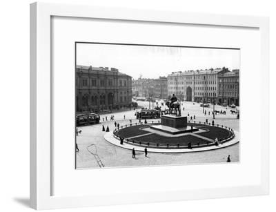 Znamemskaya Square, St Petersburg, C.1910--Framed Photographic Print