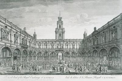 United Kingdom, England, London, View of the Stock Exchange Square--Framed Giclee Print