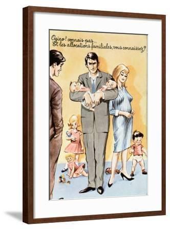 Caricature Postcard Referring to Contraception, C.1960--Framed Giclee Print