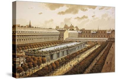 France, Paris, View of the Royal Palace in 1794--Stretched Canvas Print