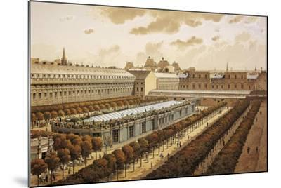 France, Paris, View of the Royal Palace in 1794--Mounted Giclee Print