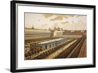France, Paris, View of the Royal Palace in 1794--Framed Giclee Print