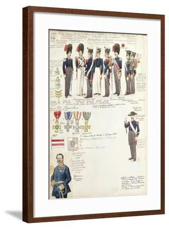 Various Uniforms of Duchy of Lucca, Color Plate, 1831-1847--Framed Giclee Print