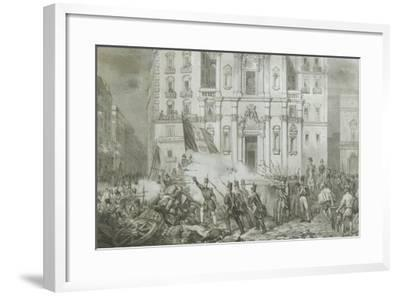 Italy - 19th Century, First War of Independence - 'Resurgence Uprising in Naples', May 15, 1848--Framed Giclee Print