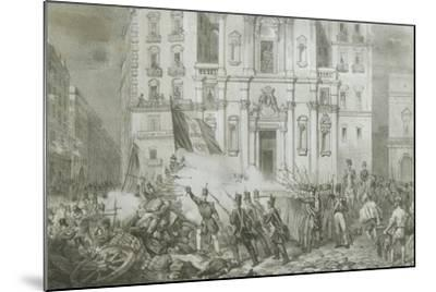 Italy - 19th Century, First War of Independence - 'Resurgence Uprising in Naples', May 15, 1848--Mounted Giclee Print