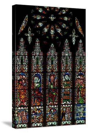 The E Window Depicting the Last Judgement: Christ, Virgin Mary, St John Baptist--Stretched Canvas Print