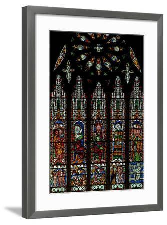 The E Window Depicting the Last Judgement: Christ, Virgin Mary, St John Baptist--Framed Photographic Print