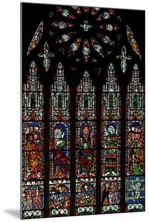 The E Window Depicting the Last Judgement: Christ, Virgin Mary, St John Baptist--Mounted Photographic Print