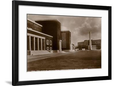 Facade of the Indoor Swimming Pool and Access to the Piazzale Dell'Impero, Foro Mussolini, Rome--Framed Photographic Print