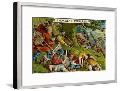 Batavian Revolt Against the Romans--Framed Giclee Print