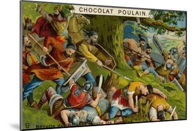 Batavian Revolt Against the Romans--Mounted Giclee Print