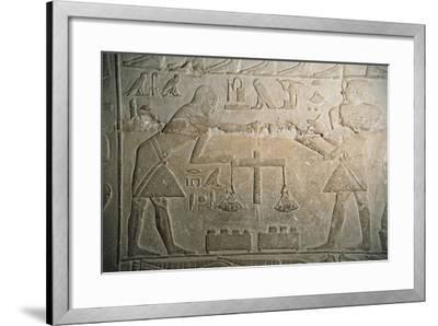 Relief of Goldsmiths Weighing Gold--Framed Giclee Print