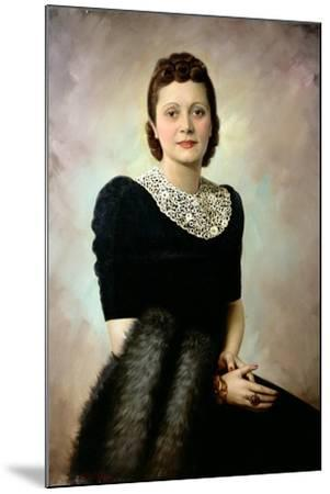 Portrait of an Elegant Lady, Late 1930S--Mounted Giclee Print