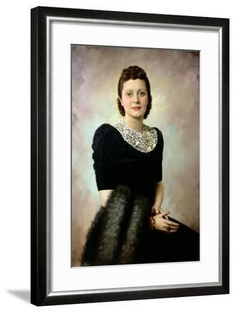 Portrait of an Elegant Lady, Late 1930S--Framed Giclee Print