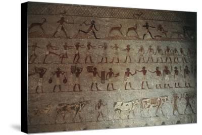 Beni-Hasan Necropolis, Tomb of Amenemhat--Stretched Canvas Print