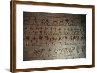 Beni-Hasan Necropolis, Tomb of Amenemhat--Framed Giclee Print