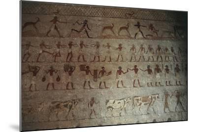 Beni-Hasan Necropolis, Tomb of Amenemhat--Mounted Giclee Print