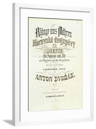 Moravian Duets by Dvorak--Framed Giclee Print