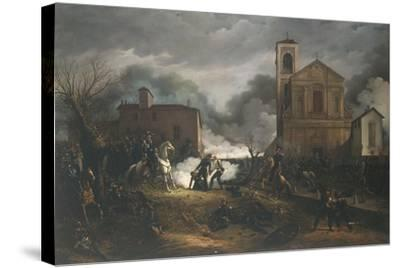 First War of Independence - Novara, Battle of Bicocca, 23 March 1849--Stretched Canvas Print