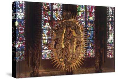 Madonna and Child, the Choir, Cathedral of Aachen--Stretched Canvas Print