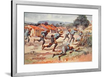The Fight for El Caney: the Final Charge of Chaffee's Brigade--Framed Giclee Print
