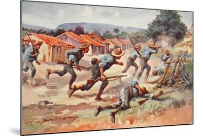 The Fight for El Caney: the Final Charge of Chaffee's Brigade--Mounted Giclee Print