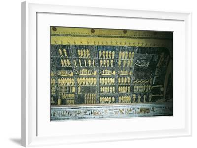 Tomb of Ramses VI, Painted Ceiling Illustrating Book of the Day and Book of the Night Cosmology--Framed Giclee Print