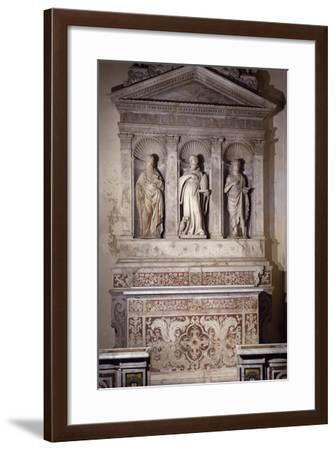 Marble Ancona with Three Saints, Amalfi Cathedral, Campania, Italy, 16th Century--Framed Giclee Print