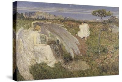 Italy, Love at the Fountain of Life, 1896--Stretched Canvas Print