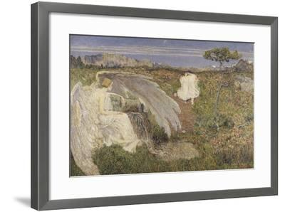 Italy, Love at the Fountain of Life, 1896--Framed Giclee Print