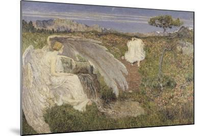 Italy, Love at the Fountain of Life, 1896--Mounted Giclee Print