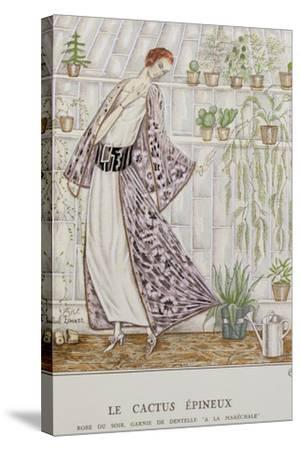 Gazette Du Bon Ton; Le Cactus Epineux--Stretched Canvas Print