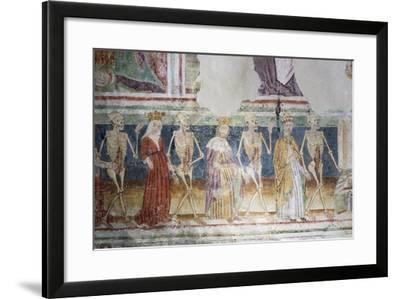 Hrastovlje Fortified Church, Trinity Church, Death Accompanying Pope and Queen, Dance of Death--Framed Giclee Print