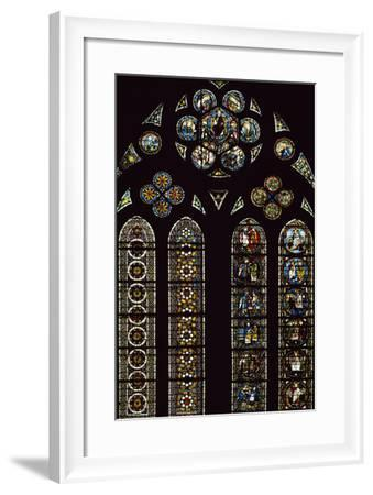 Detail of Stained-Glass Windows Commemorating Apparitions--Framed Photographic Print