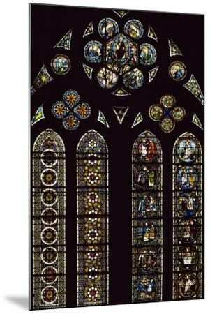 Detail of Stained-Glass Windows Commemorating Apparitions--Mounted Photographic Print