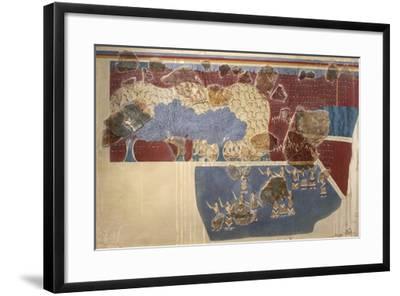 Miniature Fresco of Ladies Attending Ceremony--Framed Giclee Print