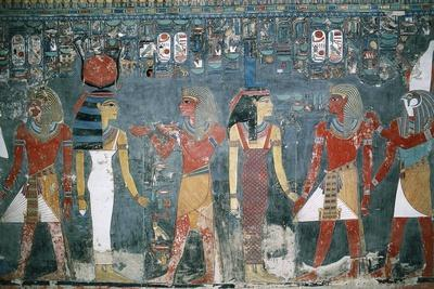 Egypt, Luxor, Valley of the Kings, Tomb of Horemheb, Mural Painting--Framed Giclee Print