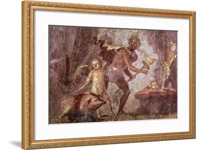 Fresco from Villa of Mysteries, Pompeii, Campania--Framed Giclee Print