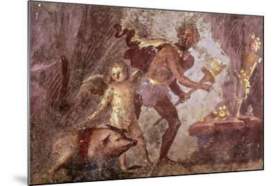 Fresco from Villa of Mysteries, Pompeii, Campania--Mounted Giclee Print