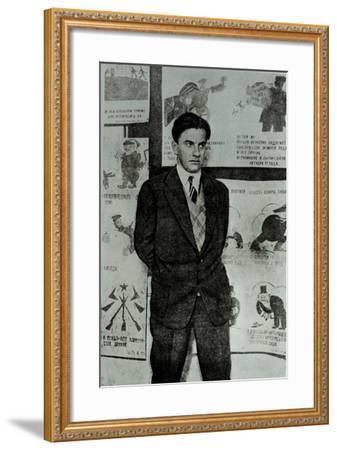 Portrait of Vladimir Vladimirovitch Maiakovski--Framed Photographic Print