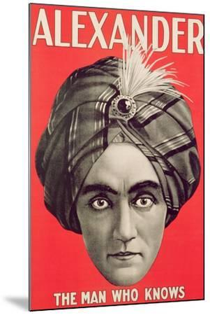 Poster of the Magician Alexander, C.1926--Mounted Giclee Print