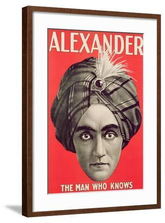 Poster of the Magician Alexander, C.1926--Framed Giclee Print