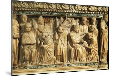 Relief Depicting Approval of Order by Pope Innocent Iii--Mounted Giclee Print