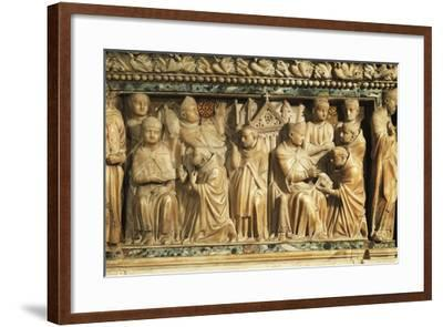 Relief Depicting Approval of Order by Pope Innocent Iii--Framed Giclee Print