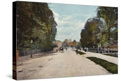 Trumpington Road and Trumpington Street--Stretched Canvas Print