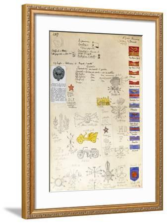 Decorations and Badges of Navy Uniforms, 1917--Framed Giclee Print