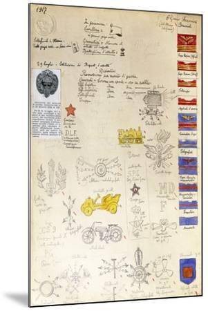Decorations and Badges of Navy Uniforms, 1917--Mounted Giclee Print