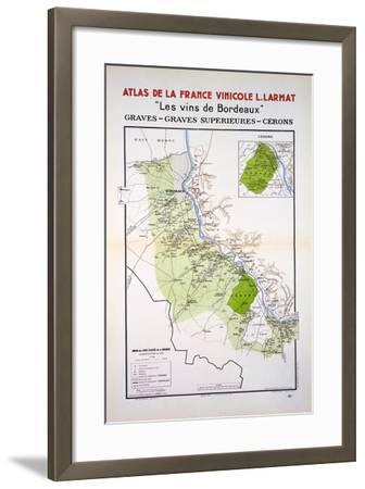Map of the Graves and Cerons Regions--Framed Giclee Print