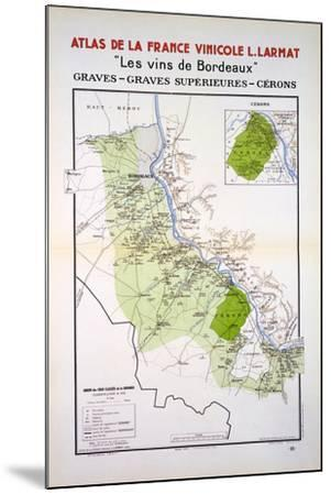 Map of the Graves and Cerons Regions--Mounted Giclee Print