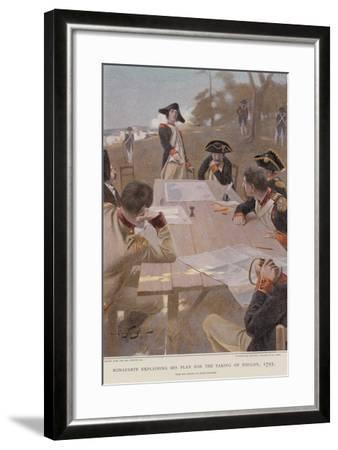 Bonaparte Explaining His Plan for the Taking of Toulon--Framed Giclee Print